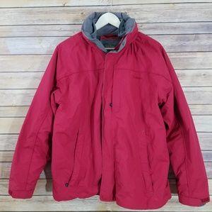 LL Bean M MEDIUM Mens Red 2 in 1 Dual Layer Coat